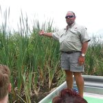 Captain Dan showing alligator nest