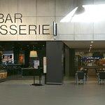 L'entrée de la Brasserie, via la galerie commerciale du centre E.Leclerc