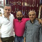 Aslan , me and Haroon. Haroon makes and sells wonderful silver  jewellery!