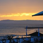 Lovely sunset from Fanabe Restaurant El Gran Sol