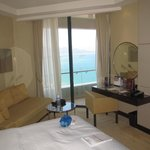 Spacious room with balcony and view