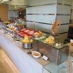 Part of the breakfast buffet area