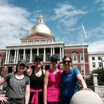 In front the State House