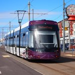 One of Blackpool's new trams