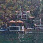 Hotel from Lake Atitlan