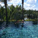 Infinity pool overlooking the river - so picturesque