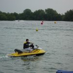 The jet-ski lake was very busy, and very interesting to watch them!