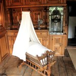 Beautifully carved cot and panelling