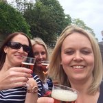 Enjoying a Pimms on the Punt