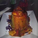 Mofungo w/ Filet Fish (grouper) in creole sauce