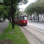 Ring Tram running outside Hotel de France