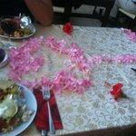 Vores bord til Tyrkisk aften på hotellet