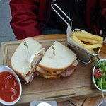 Club Sandwich with fries/chips and salad