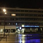 Вид отеля от входа в вокзал
