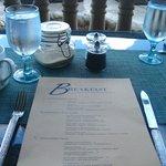 ocean front breakfast