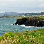 panorámica de la costa desde fazouro
