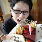Surprise birthday cake from Four Seasons Langkawi