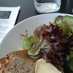 Lunch, starter (salad and homemade bread)