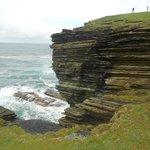 Cliff walk at Brough of Birsay