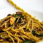 Spaghetti Aglio e Olio at lunch