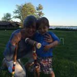 On the Crochet lawn with our grandson Andrew.