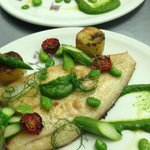 Fresh Catch of the Day, Lemon Sole w/ Fondant new potatoes & Spinach Puree