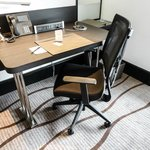 Comfortable writing desk and stylish carpet in our Deluxe Room, Sama-Sama Hotel KLIA