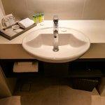 The sink with Green Tea Extract bathroom amenities, Sama-Sama Hotel KLIA