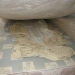 dirty sheet under the mattress