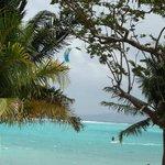 Haciendo kite en la playa!