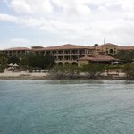 View of the resort from the ocean