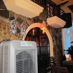 Some of the internal decor and air conditioning