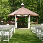 Our gazebo set up for a wedding