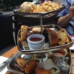 high tea arrangement - looks nicer than it tastes