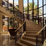 Staircase connecting the Fontana Restaurant to the Lobby Reception
