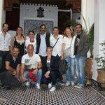 Le groupe et l'équipe du Riad
