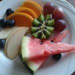 Empfang mit frischen Früchten