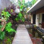 walkway to the villa