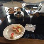 More cocktails in The Vista Bar terrace. Vodka Martini.