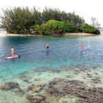 Diamond Cay across from Utila Cays Inn