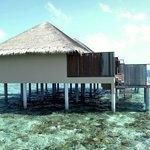 water villa honeymoon