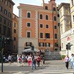 the building, San Pantaleo is on the fourth floor