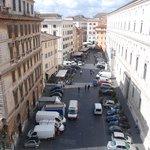 accross the street