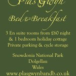 Plas Gwyn Sign