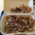 Re-fried chips and soggy fish!!