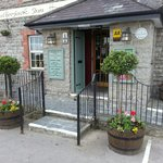 the entrance to the pub