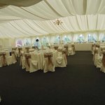 Our wedding: inside the marquee