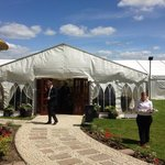 Our wedding: the marquee
