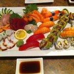 Sashimi plate at Iron Chef