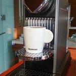 nespresso coffee maker in each room